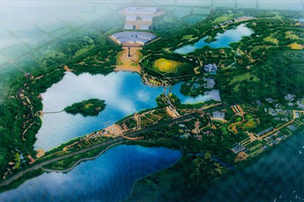 园林花境手绘平面图